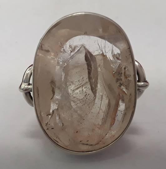 Large Oval Manifestation Crystal Ring
