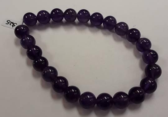 Dark Purple Amethyst Beaded Bracelet
