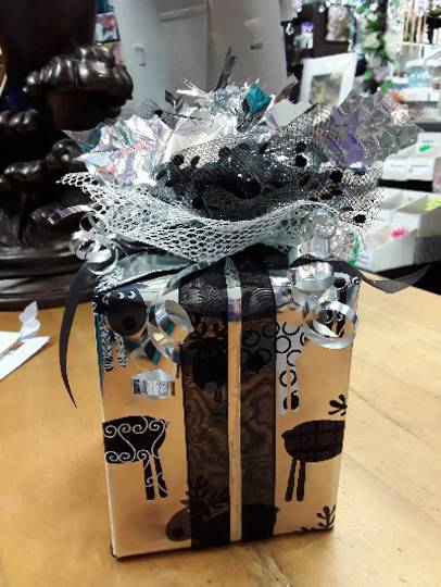 Free Christmas Wrapping Black and Silver Themed