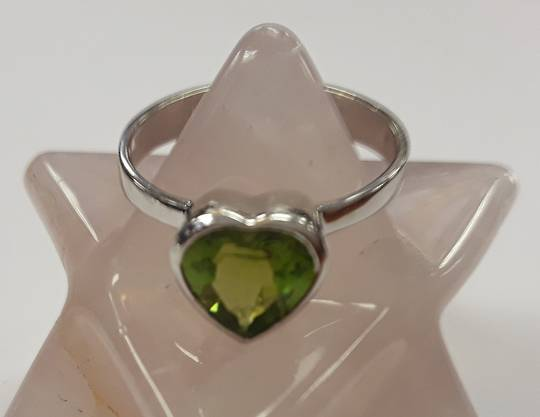 Peridot Heart Ring