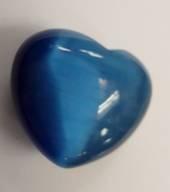 Blue Cats Eye Heart