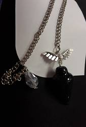 Purple Goldstone Plumbob with Angel Wings Pendulum (p318)