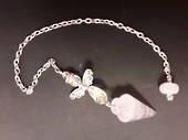 Rose Quartz Angel Pendulum with Rose Quartz Bead