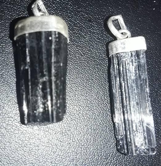 Natural Black Tourmaline Pendant