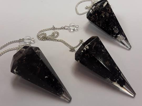 Black Tourmaline  Orgonite Pendulum