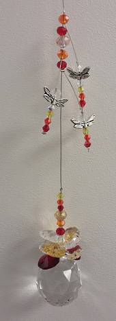 Orange/Lemon/Red Dragonfly Suncatcher