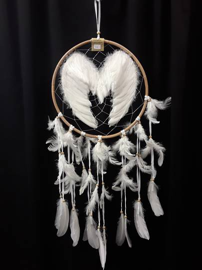 Double Sided Angel Wings Dreamcatcher 31.5cms