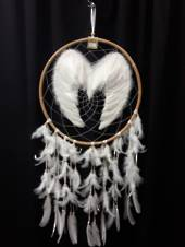 Double Sided Angel Wings Dreamcatcher 41.5cms
