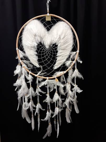 Extra Large Double Sided Angel Wings Dreamcatcher