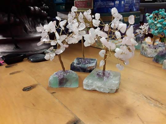 Rose Quartz Tree on a Fluorite Base 15cms