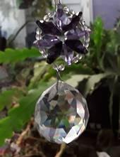 Lilac and Purple Wheel Suncatcher