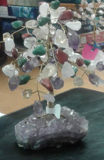 Multistone Crystal Tree 13.5cms