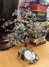 Green Calcite and Amethyst Tree 29cms