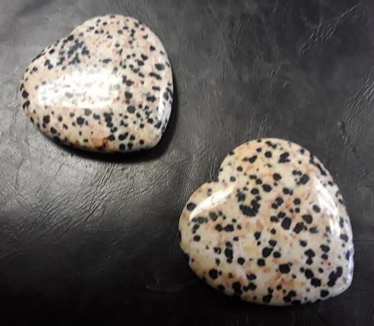 Dalmatian Jasper Crystal Heart CT