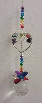 Heart Chakra Beaded Suncatcher