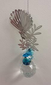 2 Tone Blue Fantail Suncatcher