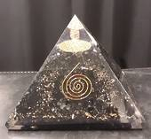 Large Black Tourmaline Orgonite Pyramid