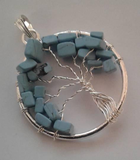 Turquoise Tree Pendant