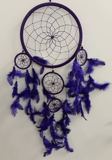 22cms Purple Dreamcatcher