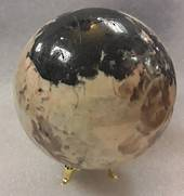 Moonstone and Black Tourmaline Crystal Ball MTJ9