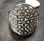 Patterned Flower Ring