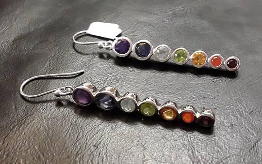 Chakra Drop Earrings 5.5cm Drop