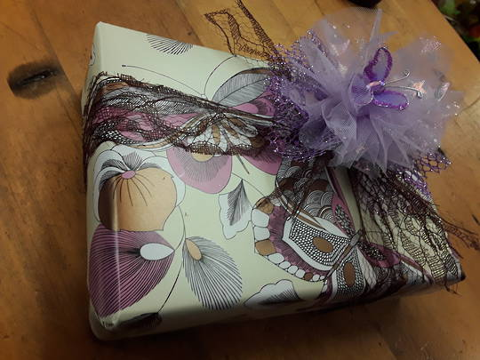 Pink and Brown Butterfly Free Gift Wrapping