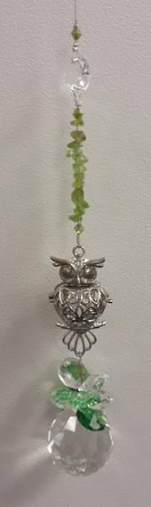 Hootie The Owl Peridot Suncatcher