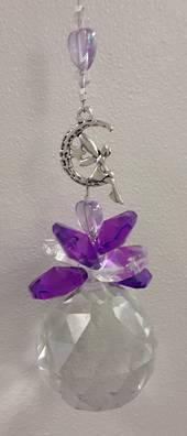 Purple Fairy Moon Suncatcher