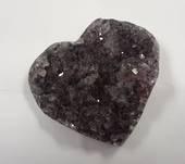 Amethyst Druzy Heart QS2