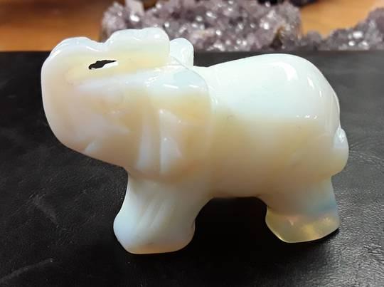 Opalite Elephant Medium