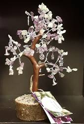 Witchs Tools Amethyst and Green Calcite Wish Tree  21cms