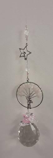 The Fairy Rose Quartz Tree Suncatcher