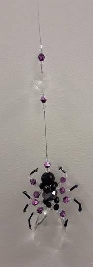 Purple Spider Suncatcher