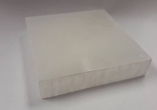 Polished Selenite Crystal Square Plate
