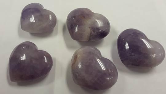 Amethyst Crystal Heart 38mm
