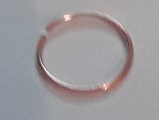 Rose Gold Sterling Silver Nose Ring 8mm