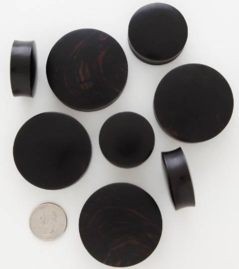 32mm Extreme Size Black Wood Plug
