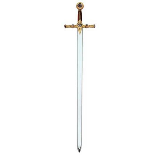 Masonic Sword by Marto of Toledo Spain (Gold)/red