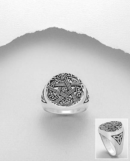 925 Sterling Silver Celtic Star Ring