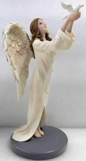 Angel Standing Releasing Dove