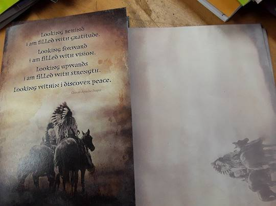Apache Prayer Card and Envelope