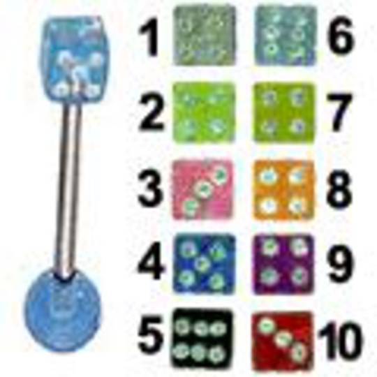 UV dice tongue bar
