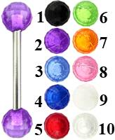 UV Black disco balls tongue bar