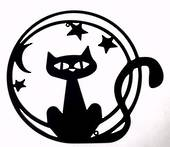 Black Cat with Stars Wall Art was $45 now $25