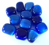Small Blue Cats Eye Tumbled Piece