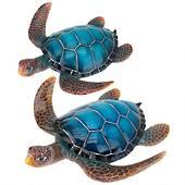 Blue Sea Turtle Statue