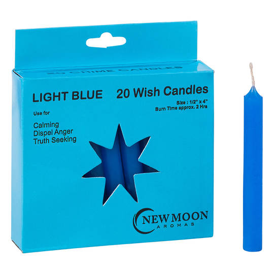 Wish Candle  (20 Pack) Light Blue
