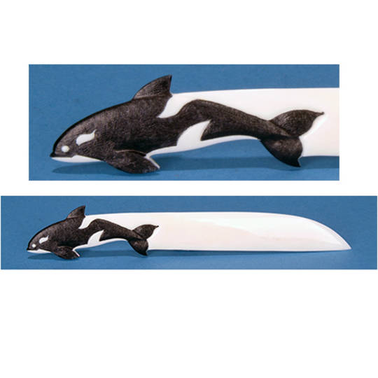 Bone Orca Letter Opener