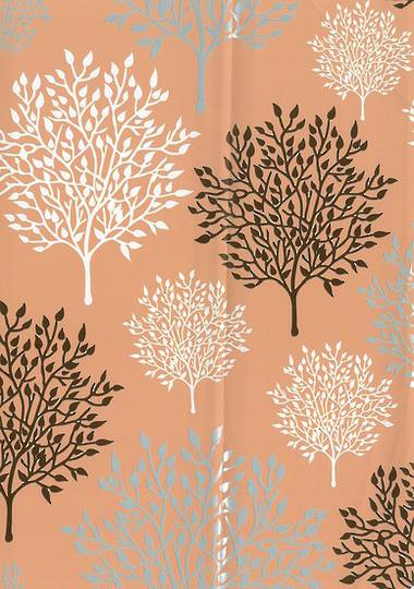 Browns and Apricot Tree free Gift Wrap